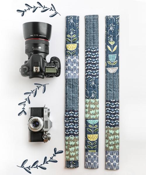 camera strap cover blue 1